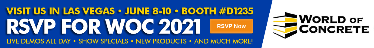 Jon-Don will be at World of Concrete 2020 in Las Vegas