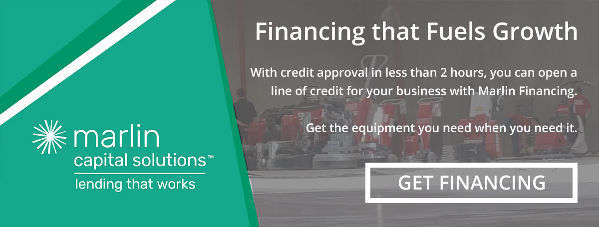 Financing that Fuels Growth: With credit approval in less than 2 hours, you can open a line of credit for your business with Marlin Financing. Get the equipment you need when you need it. LINK: GET FINANCING