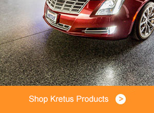 Car parked on shiny floor - Shop Kretus Products