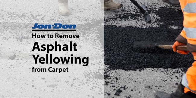 How to Remove Asphalt Yellowing from Carpet