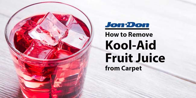 Kool-Aid Fruit Juice Removal from Carpet