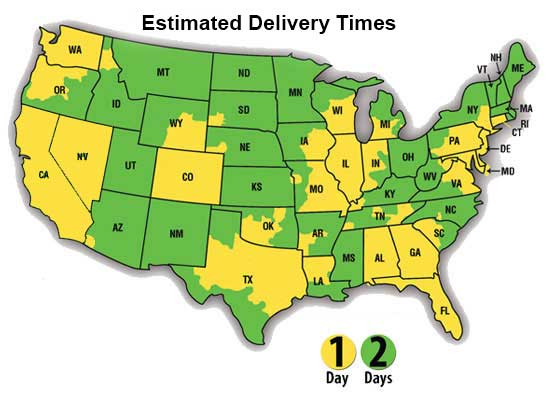 Jon Don estimated shipping map