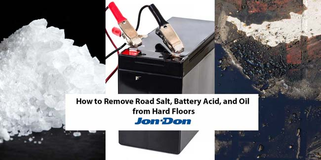 How to Remove Road Salt, Battery Acid, and Oil from Hard Floors